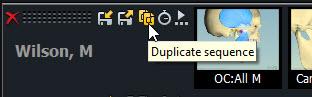 Click on Duplicate Seq Button