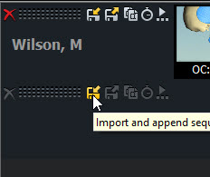Click on Import sequence Button