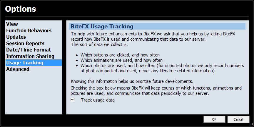 Options-BiteFX-Usage-Tracking