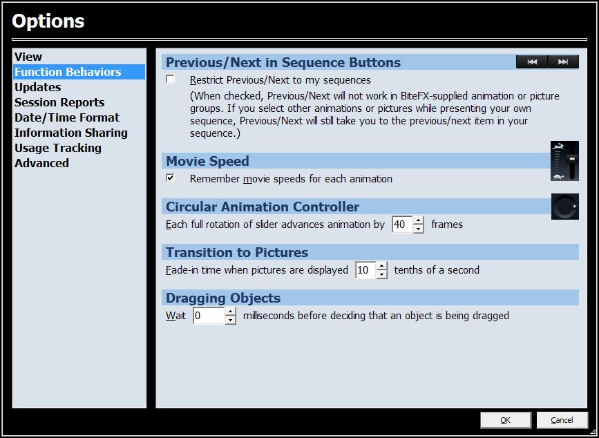 Options-Function-Behaviors