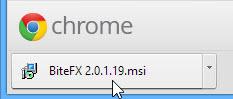 Click on BiteFX 2.0.1.19.msi