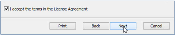 Accept the Terms of the Agreement Next Detail