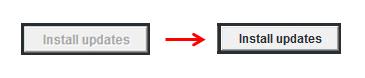 Install Updates Dim to Bold