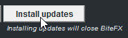 Click on Install Updates Button