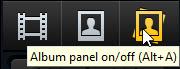 Album panel button