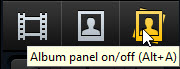 Album panel button