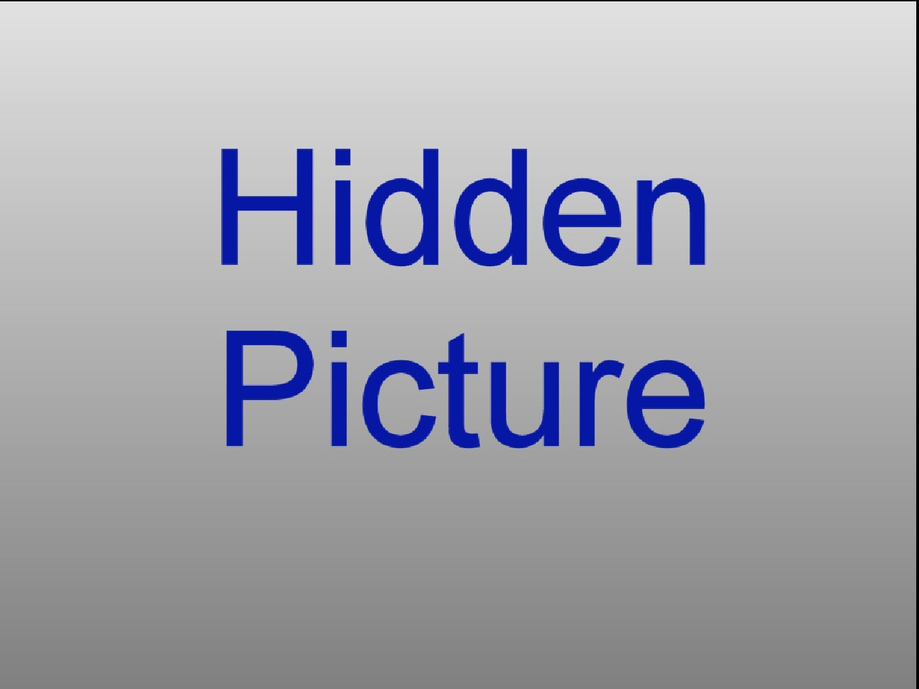 Selected Hidden Picture in Main Screen