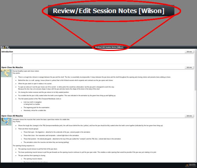 Edit Review Notes Title Closeup