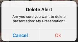 Delete Presentation Alert