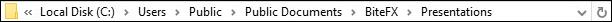 Default Folder For All Presentations