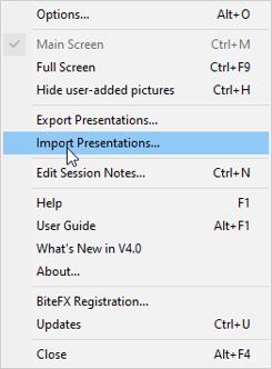 Import From Menu List
