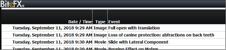 V3 Event Log Detail No Recording