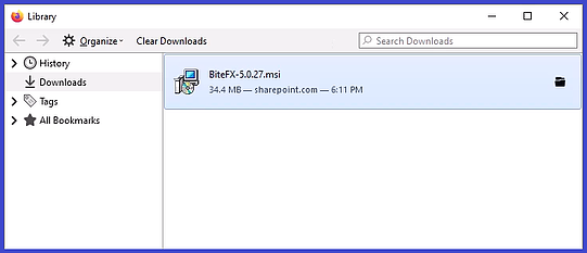 V5 Firefox 5.0.27 Shown in Library Folder