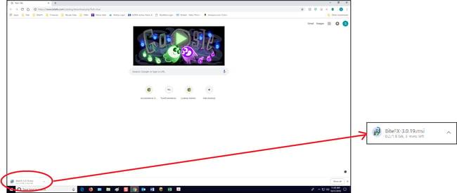 Google Chrome Download Screen