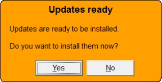 Updates Ready Dialog