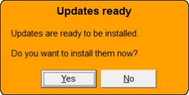 Updates Ready Dialog