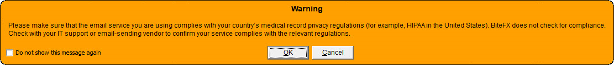 V3 Email Warning