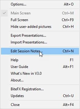 Edit Session Notes V3