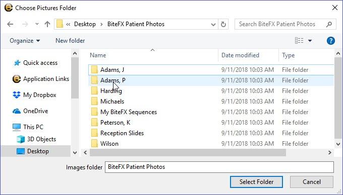 Choose Picture Folder